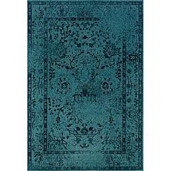 Teal/ Grey Area Rug (7'10 x 10'10)