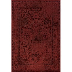Red/ Grey Transitional Area Rug (6'7 x 9'6)