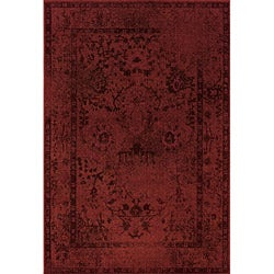 Red/ Grey Transitional Area Rug (7'10 x 10'10)