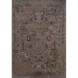 Grey/ Black Transitional Area Rug (3'10 x 5'5)