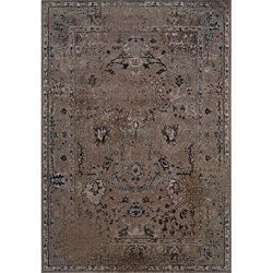 Grey/ Black Transitional Area Rug (6'7 x 9'6)