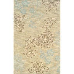 Solano Beige/ Brown Transitional Area Rug (8' x 10')