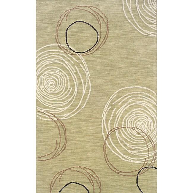 Solano Beige/ Brown Contemporary Area Rug (5' x 8')