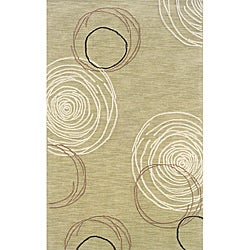 Solano Beige/ Brown Contemporary Area Rug (8' x 10')