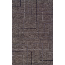 Solano Grey/ Black Contemporary Area Rug (8' x 10')