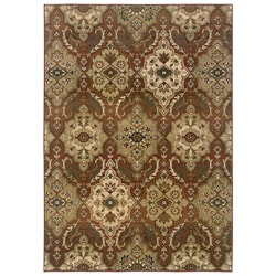 Sydney Rust/Beige Transitional Polyester Area Rug (4' x 5'9