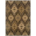Sydney Brown/ Beige Polyester Transitional Area Rug (4' x 5'9)