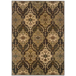 Sydney Brown/Beige Transitional Polyester Area Rug (5' x 7'6