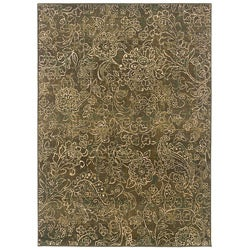 Sydney Brown/ Beige Transitional Area Rug (7'10 x 11')
