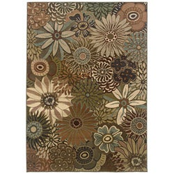 Sydney Rust/ Blue Transitional Area Rug (5' x 7'6)