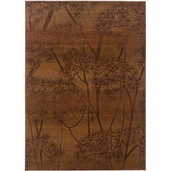 Sydney Rust/ Red Transitional Area Rug (4' x 5'9)