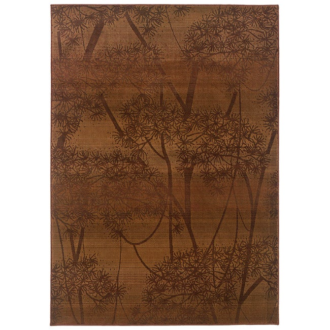 Sydney Rust/ Red Transitional Area Rug (5' x 7'6)