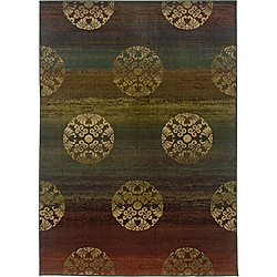 Sydney Rust/ Brown Contemporary Area Rug (7'10 x 11')