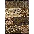 Sydney Rust/ Beige Transitional Area Rug (4' x 5'9)