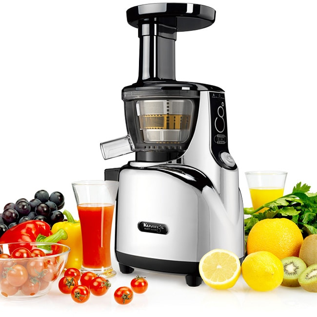 Healthy Living Slow Juicer Natural Juice Extractor : Kuvings NS-950 Chrome Masticating Silent Slow Juicer - 14212056 - Overstock.com Shopping - Big ...
