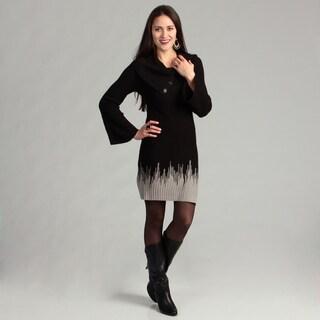 Connected Apparel Women's Black/ Oatmeal Dress FINAL SALE