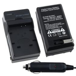 BasAcc Compact Battery Charger Set for Panasonic CGA-S007/ DMW-BCD10