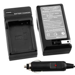 BasAcc Compact Battery Charger Set for Panasonic DMW-BLD10