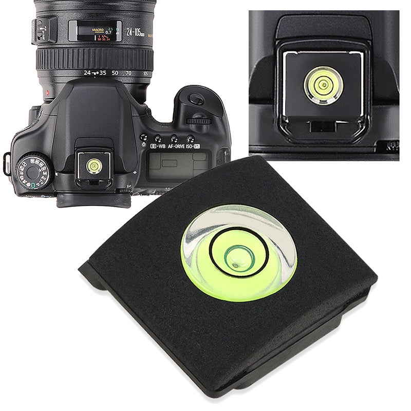 INSTEN Black Camera Flashlight Hot Shoe Spirit Level Cover