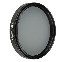 BasAcc 55-mm Black Circular Polarizing Lens Filter