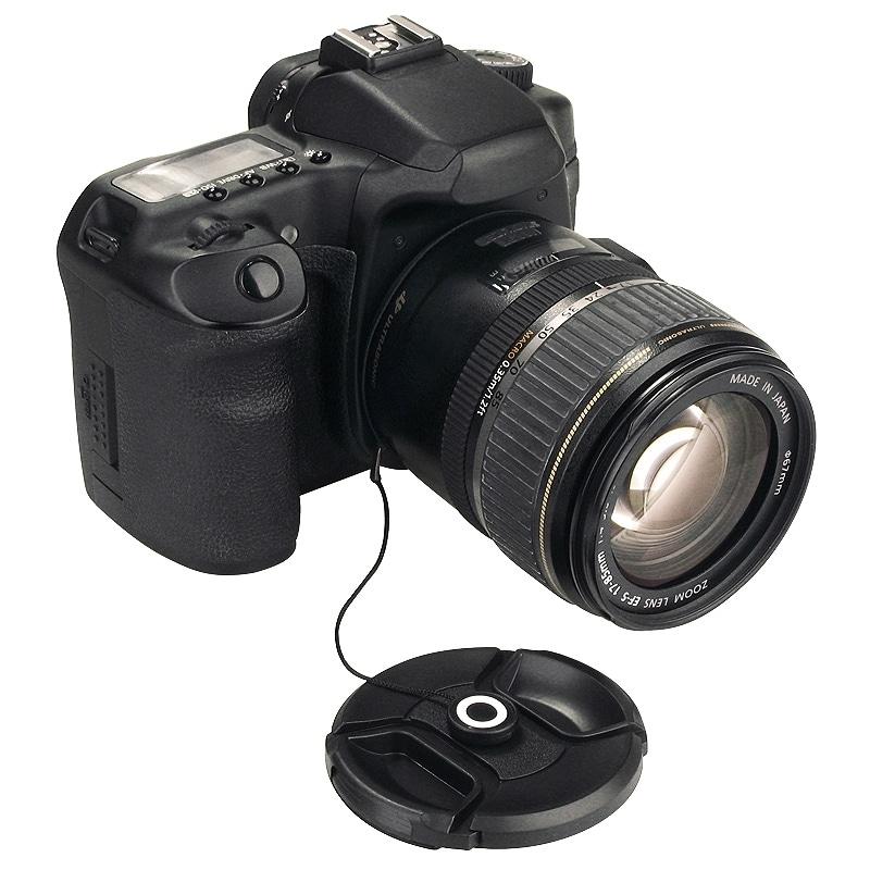 INSTEN Black Camera Lens Cap Keeper Holder