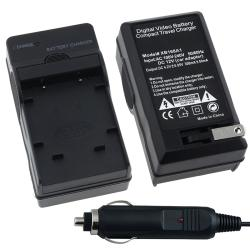 BasAcc Compact Battery Charger Set for Olympus/ Nikon/ Fuji/ Pentax