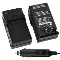 BasAcc Compact Battery Charger Set for Olympus BLM-1/ BLL-1
