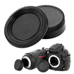 BasAcc Camera Body Cap and Rear Lens Cover Cap for Nikon