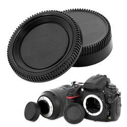 BasAcc Camera Body Cap and Rear Lens Cover Cap for Nikon