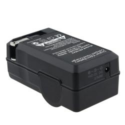 BasAcc Compact Battery Charger Set for Nikon EN-EL1/ NP-800