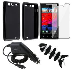 Case/LCD-Screen Protector/Wrap/Charger for Motorola Droid RAZR Maxx XT916