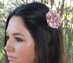 CarolineAlexander Satin Rose Hair Flower