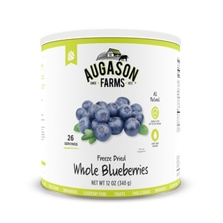 Augason Farms Freeze Dried Whole Blueberries (Pack of 3)