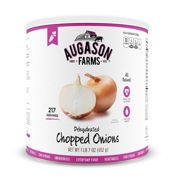 Augason Farms Dehydrated Chopped Onions 23 oz #10 Can 21211766