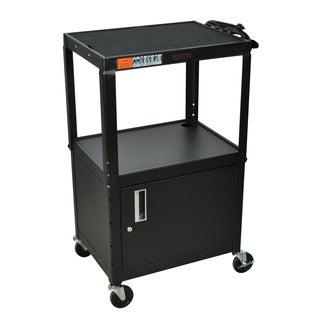 H. Wilson Adjustable Black Cabinet Model Metal Utility Cart