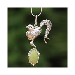 Sterling Silver 'Pheasant' Serpentine Necklace (Peru)