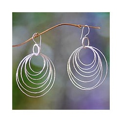 Sterling Silver 'Seven Orbits' Earrings (Indonesia)
