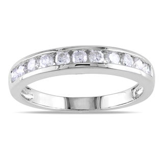 Miadora 14k Gold 1/2ct TDW IGL Certified Diamond Semi-eternity Ring (G-H, SI1-SI2)