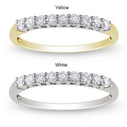 Miadora 14k Gold 1/4ct TDW Diamond Anniversary Ring (G-H, SI1-SI2)