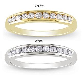 Miadora 14k Gold 1/3ct TDW Diamond Semi-eternity Ring (G-H, SI1-SI2)