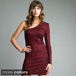 Issue New York Women's One-shoulder Glitter Dress