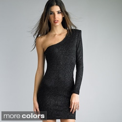 Issue New York Women's One-shoulder Glitter Dress