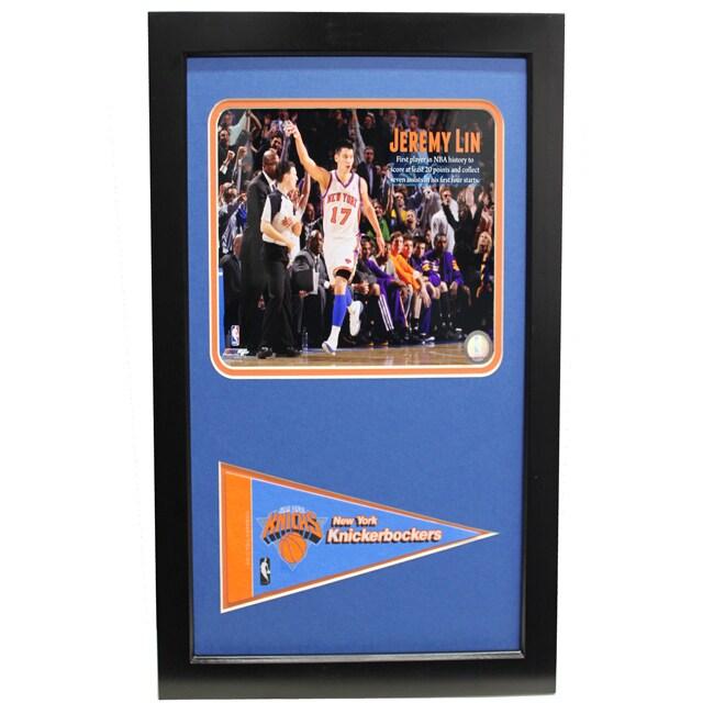 New York Knicks Jeremy Lin Pennant Frame