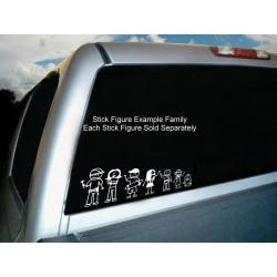Vinyl Letter Decor 'Mom 2' Stick Figure Car Decal