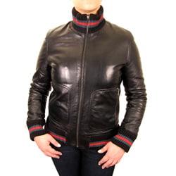 Knoles & Carter Women's Plus Knit-Rib Leather Urban Coat