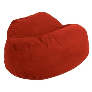 FufSack Cinnabar Red Microfiber Bean Bag Loveseat