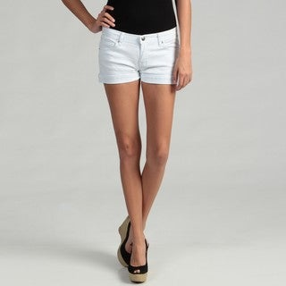 U-51 Junior's White Stretch Denim Shorts
