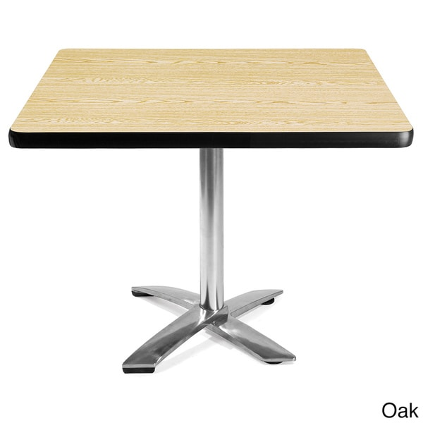 OFM 36 Inch Square Flip Top Laminate Table With Chrome Base 14213301