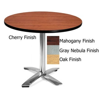 OFM 36-inch Round Flip-Top Table with Chrome Base