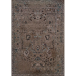 Grey/ Black Transitional Area Rug (9'10 x 12'10)